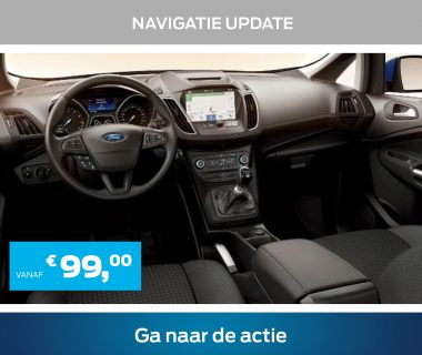 Update nu uw Ford navigatiesysteem. Vanaf € 99,- vindt u weer overal de juiste route.