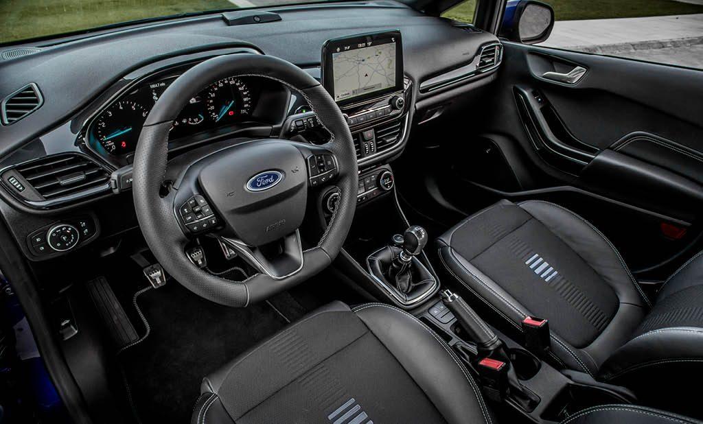 Interieur vernieuwde Ford Fiesta