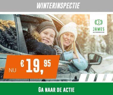 Veilig met uw auto de winter door? Kom langs voor de James Winterinspectie