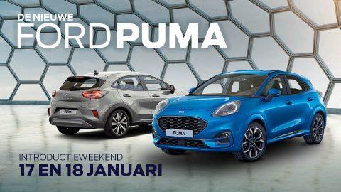 Afbeelding voor Bezoek de feestelijke introductie van de nieuwe Ford Puma