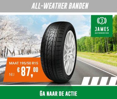 Zowel in de zomer als in de winter veilig rijden met all-weather banden