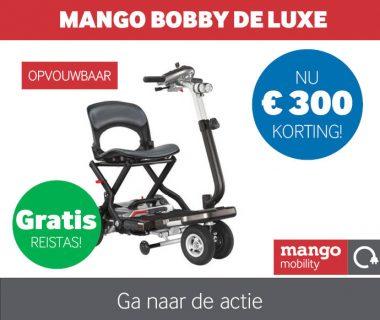 Nu € 300,- korting op de Bobby DeLuxe scootmobiel & gratis reistas!