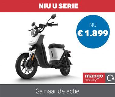 De bijzondere Niu U serie e-scooter. Nu voor € 1.899,-!