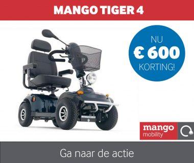 Nu € 600,- korting op de Tiger 4 scootmobiel van Mango Mobility