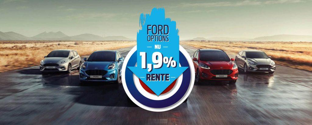 Nu 1,9% rente met Ford Options!